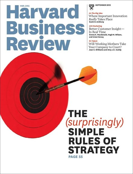 Harvard Business Review Cover - 9/1/2012