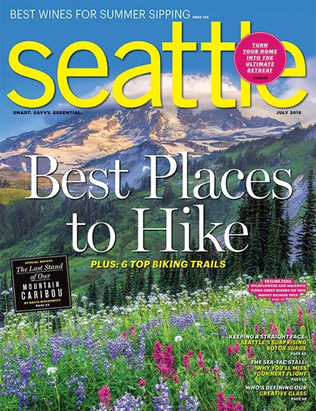 Seattle Magazine Cover - 7/1/2016