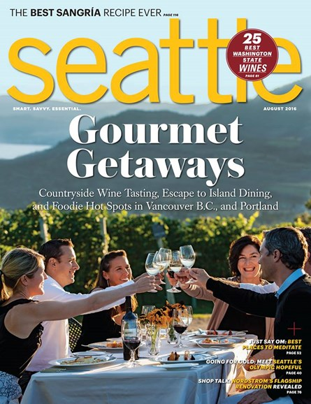 Seattle Magazine Cover - 8/1/2016