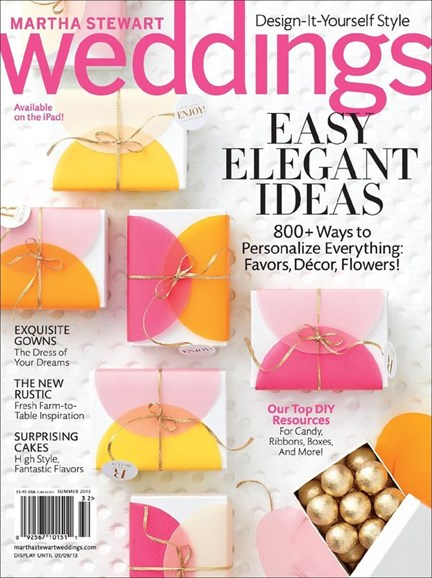 Martha Stewart Weddings Cover - 6/1/2013