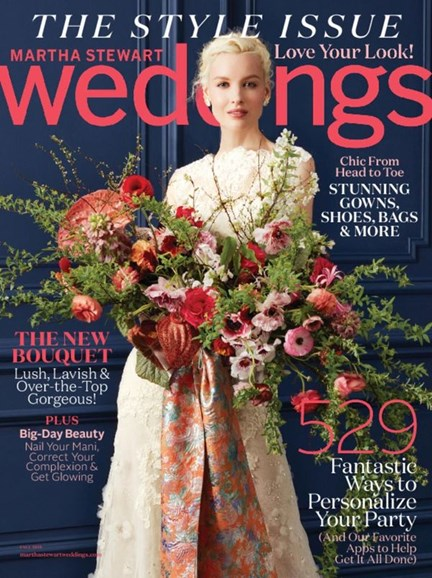 Martha Stewart Weddings Cover - 9/1/2016