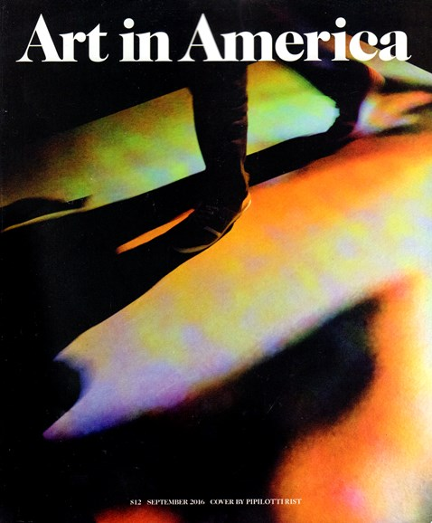 Art In America Cover - 9/1/2016