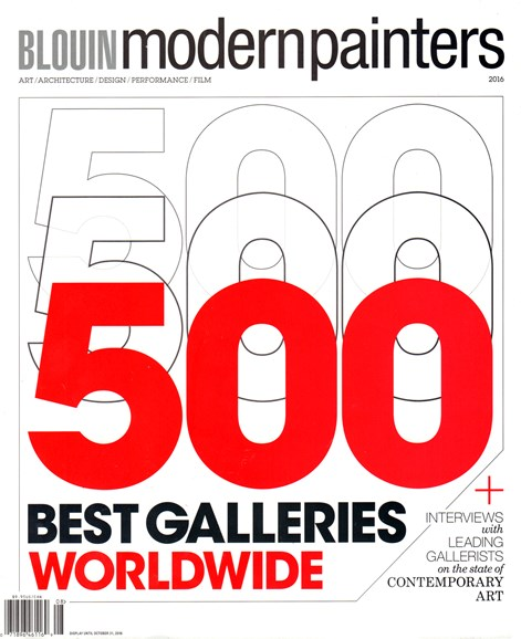 Blouin Modern Painters Cover - 8/1/2016