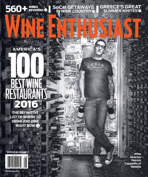 Wine Enthusiast Cover - 8/1/2016