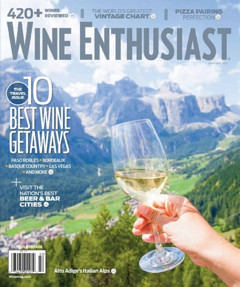 Wine Enthusiast Cover - 2/1/2016