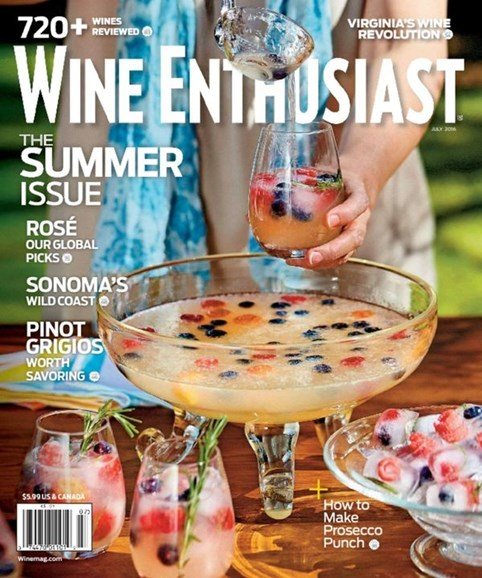 Wine Enthusiast Cover - 7/1/2016