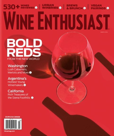 Wine Enthusiast Cover - 3/1/2016