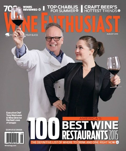 Wine Enthusiast Cover - 8/1/2015