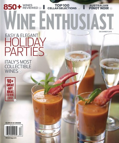 Wine Enthusiast Cover - 12/1/2015