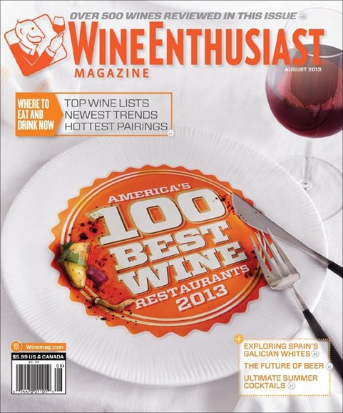 Wine Enthusiast Cover - 8/1/2013