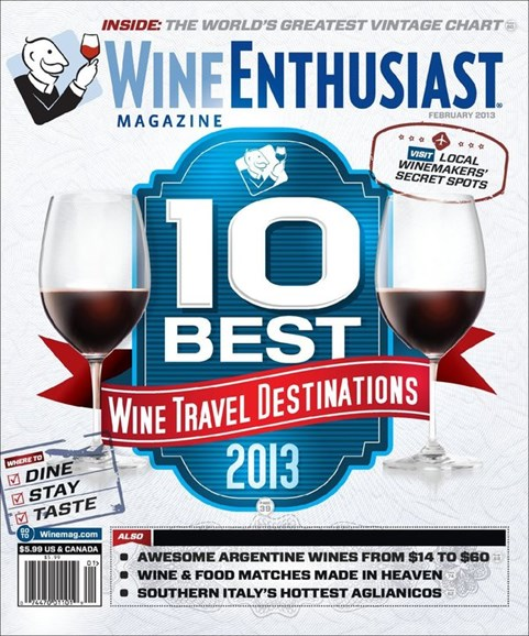 Wine Enthusiast Cover - 2/1/2013