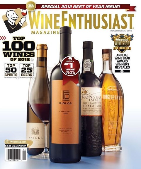 Wine Enthusiast Cover - 1/1/2013