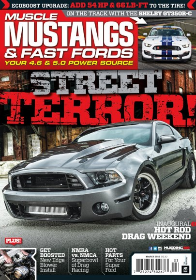 Muscle Mustangs & Fast Fords Cover - 3/1/2016