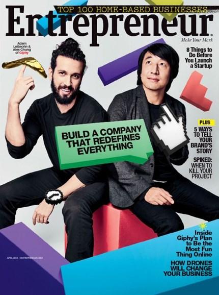Entrepreneur Cover - 4/1/2016