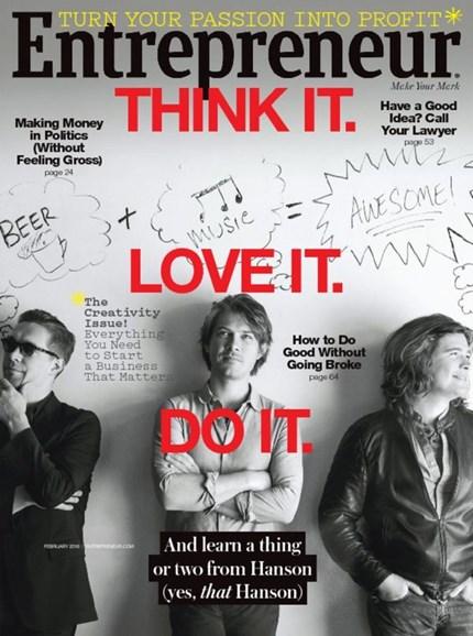 Entrepreneur Cover - 2/1/2016