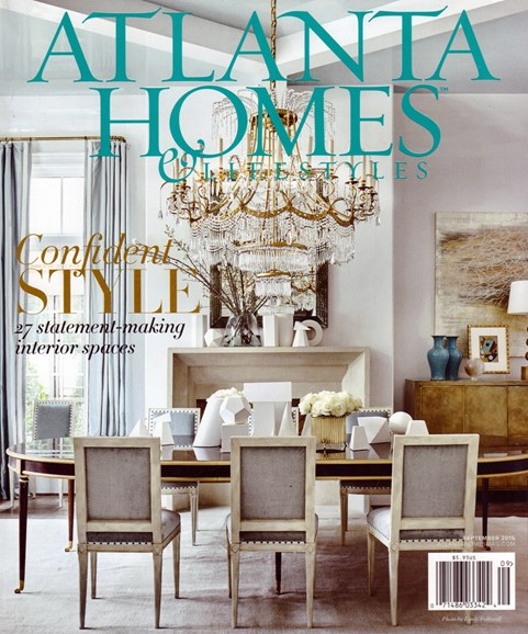 Atlanta Homes & Lifestyles Cover - 9/1/2016