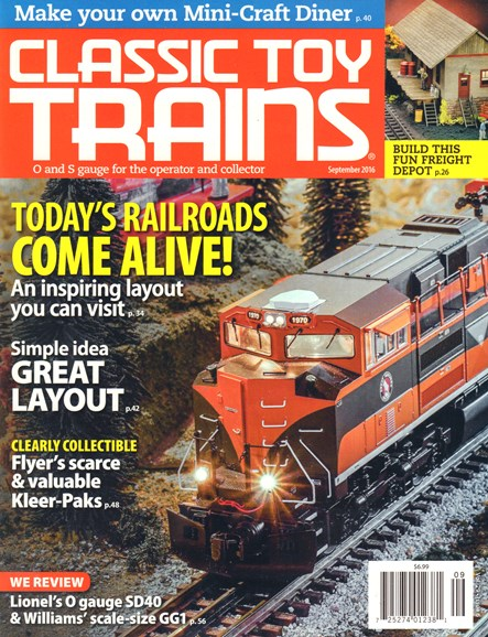 Classic Toy Trains Cover - 9/1/2016