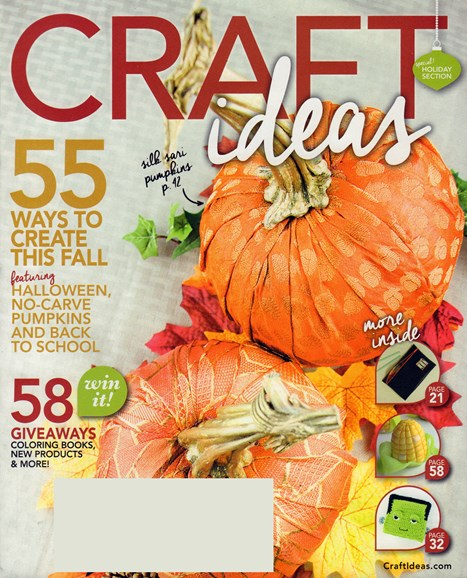 Craft Ideas Cover - 9/1/2016