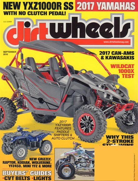Dirt Wheels Cover - 9/1/2016