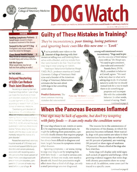 Dogwatch Cover - 9/1/2016