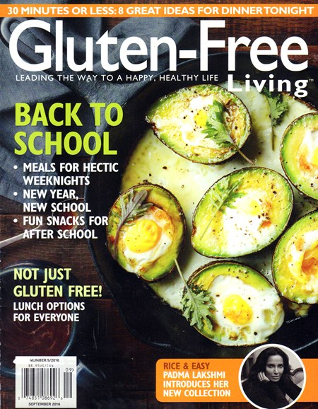 Gluten-Free Living Cover - 9/1/2016