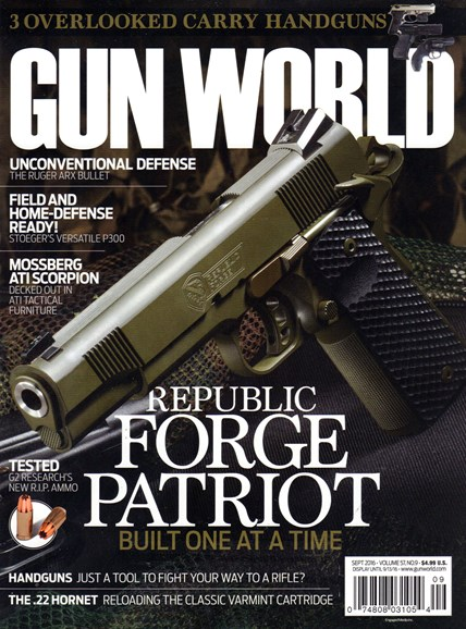 Gun World Cover - 9/1/2016