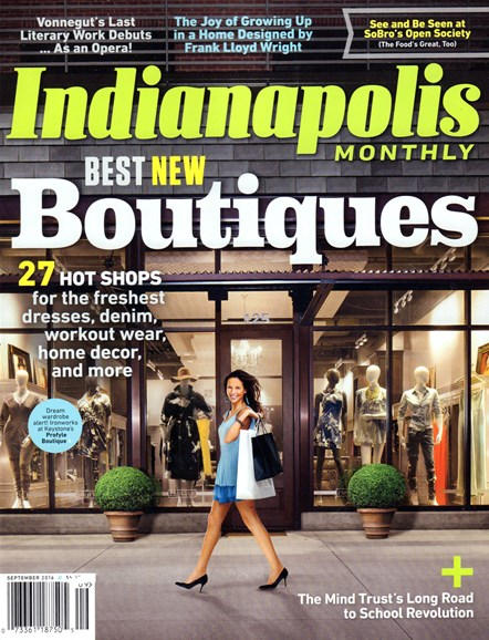 Indianapolis Monthly Cover - 9/1/2016