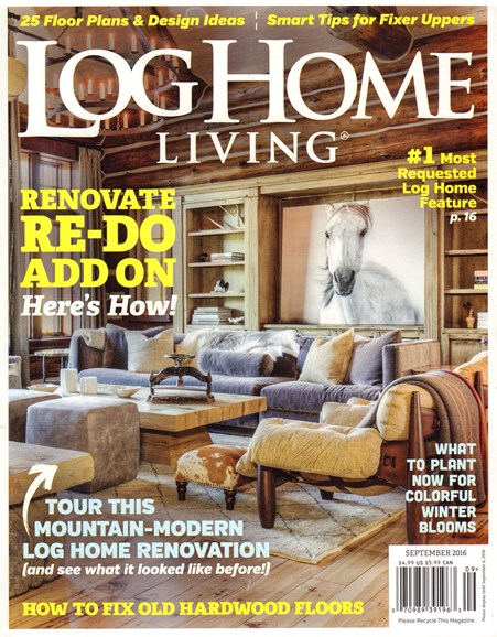 Log Home Living Cover - 9/12/2016