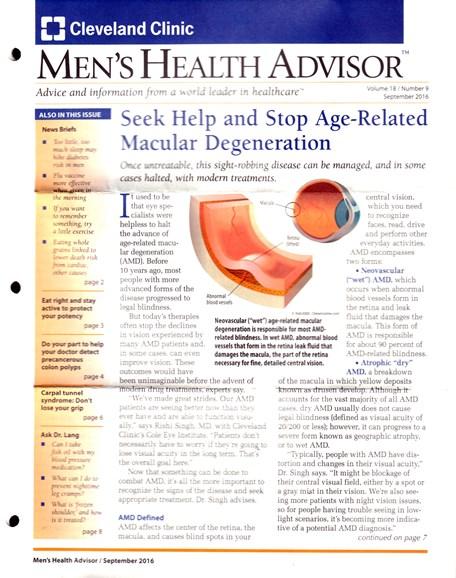 Men's Health Advisor Cover - 9/1/2016
