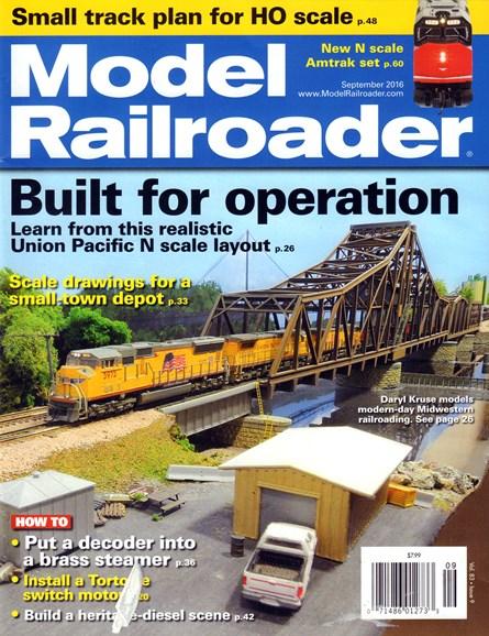 Model Railroader Cover - 9/1/2016