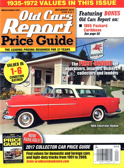 Old Cars Report Price Guide Cover - 7/1/2016