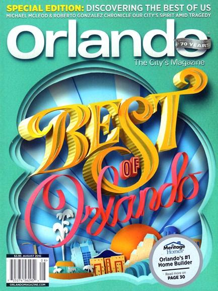 Orlando Magazine Cover - 8/1/2016
