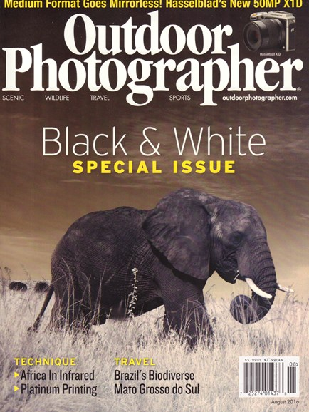 Outdoor Photographer Cover - 8/1/2016