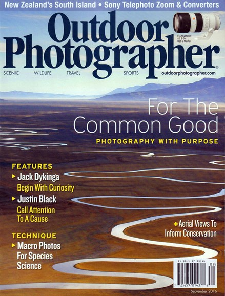 Outdoor Photographer Cover - 9/1/2016