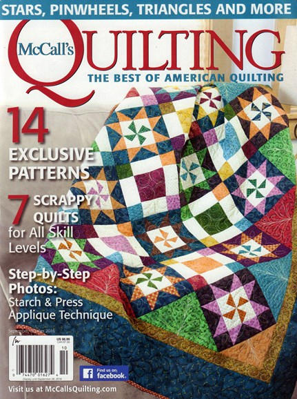 McCall's Quilting Cover - 9/1/2016