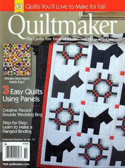 Quiltmaker Cover - 9/1/2016
