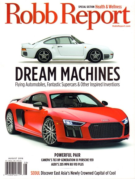 Robb Report Cover - 8/1/2016