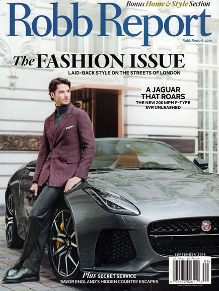 Robb Report Cover - 9/1/2016