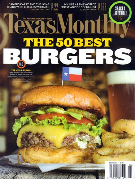 Texas Monthly Cover - 8/1/2016