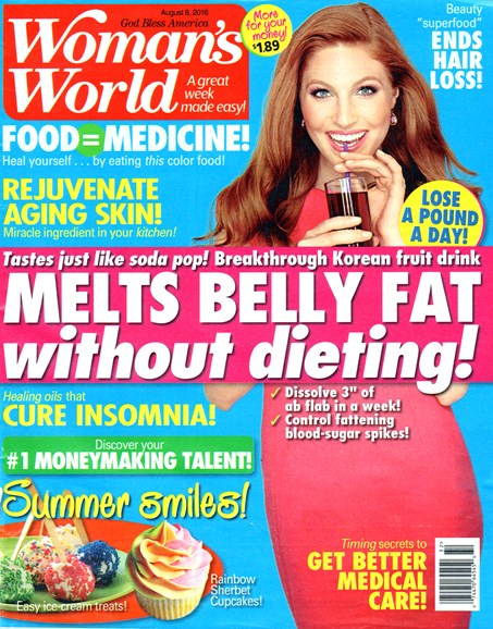 Woman's World Cover - 8/8/2016