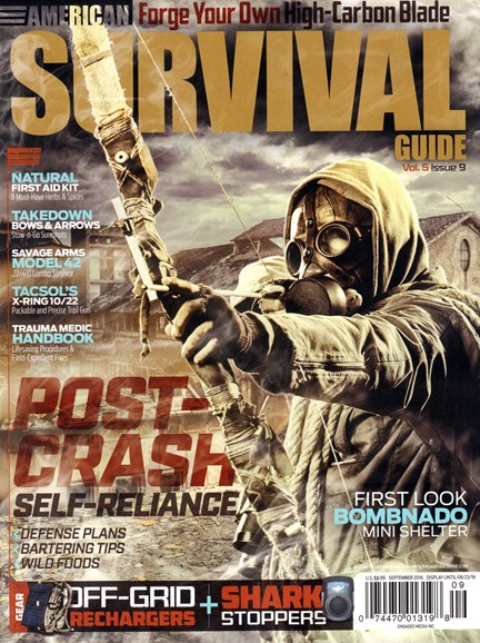 American Survival Guide Cover - 9/1/2016
