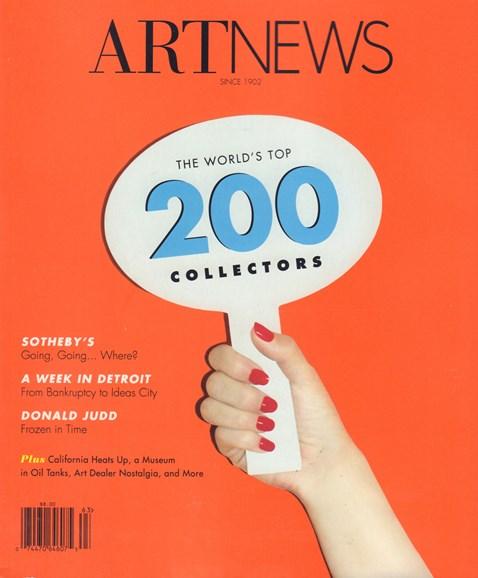 ARTnews Cover - 9/1/2016