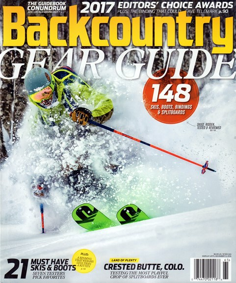 Backcountry Cover - 9/1/2016