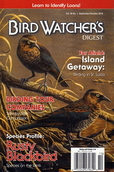 Bird Watcher's Digest Cover - 9/1/2016