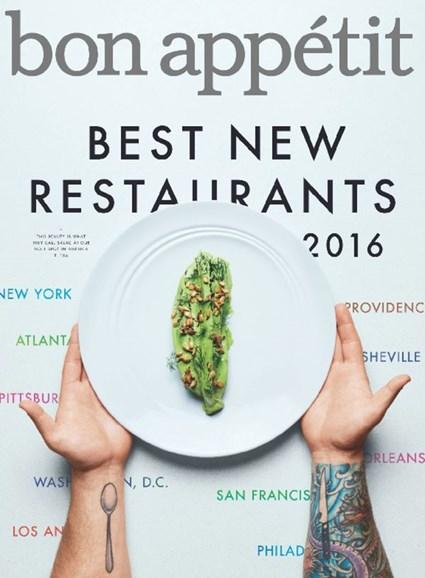 Bon Appétit Cover - 9/1/2016