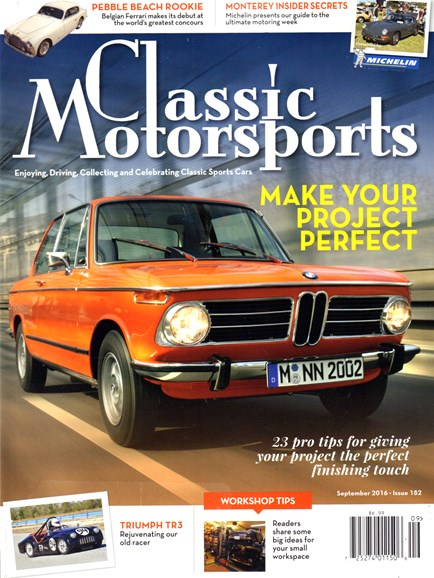 Classic Motorsports Cover - 9/1/2016