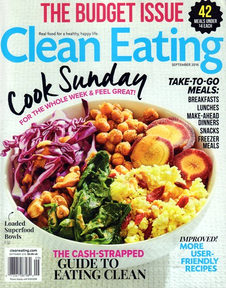 Clean Eating Cover - 9/1/2016