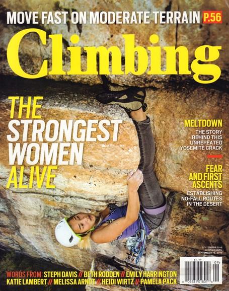 Climbing Magazine Cover - 9/1/2016