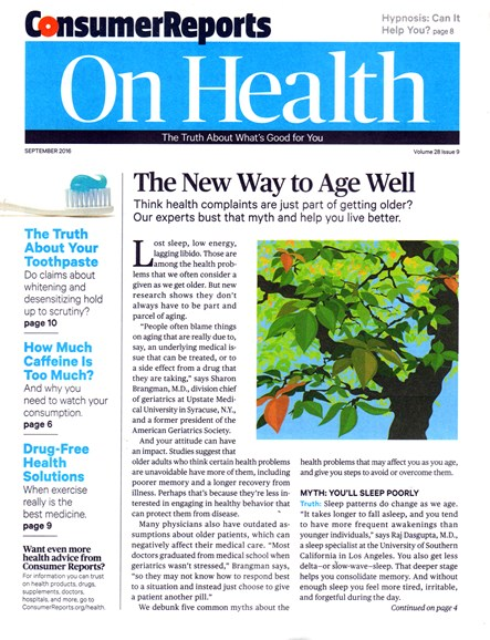 Consumer Reports On Health Cover - 9/1/2016