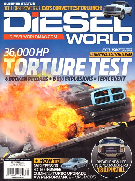 Diesel World Cover - 9/1/2016